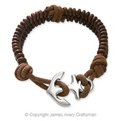 Cinnamon Woven Leather Bracelet from James Avery