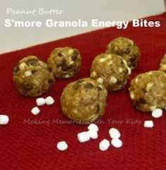 Peanut Butter S'more Granola Energy Bites - Making Memories With Your Kids