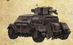 Dieselpunk armored car