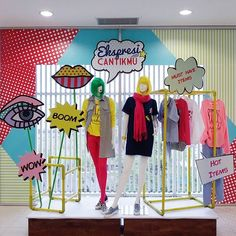 "WEBSTA @ tomyramdhani - ""PATCH UP POP ART""...#mannequins #visualmerchandiser #visualmerchandising #popart #patch #fashion #trend #colors #colorful #colourpop #window #windowdisplay #instagramers #instagram"