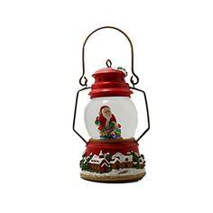 Lightahead 80MM Christmas Snow Water Lantern Lamp with Fa...