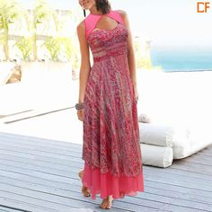 Dress up like a grecian goddess in this amazing floral printed dress. Link to buy www.droomfashion.com