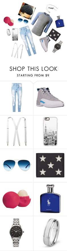 """Untitled"" by majoratat on Polyvore featuring LE3NO, Topman, Stacy Adams, Casetify, X-Ray, Yves Saint Laurent, Eos, Ralph Lauren, Citizen and West Coast Jewelry"