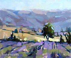 Where the Lavender Grows by Trisha Adams Oil ~ 24 x 30
