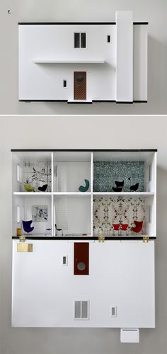 Wall-mounted modern dollhouse for kids?! Awesome! (Arne Jacobsen House for kids)