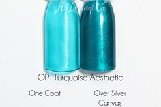 OPI Turquoise Aesthetic swatch - Color Paints via @alllacqueredup