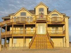 Carova Vacation Rental House Unobstructed Views, 4WD, Pool, Hot Tub, Elevator