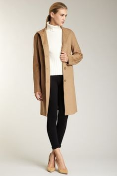 So chic.  cashmere wool coat