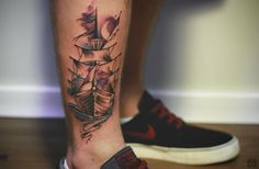Inspiring Tattoo Designs for Designers Great Tattoos, Tattoos For Guys, Old School Tattoo Motive, Tattoo Designs, Tattoo Ideas, Tattoo Bein, Aquarell Tattoos, Neue Tattoos, First Tattoo