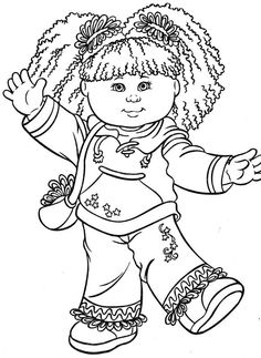 Cabbage Patch Kids color page - Coloring pages for kids - Cartoon characters coloring pages - printable coloring pages - color pages - kids coloring pages - coloring sheet - coloring page - coloring book - kid color page - cartoons coloring pages Online Coloring Pages, Cute Coloring Pages, Cartoon Coloring Pages, Printable Coloring Pages, Adult Coloring Pages, Coloring Pages For Kids, Coloring Sheets, Coloring Books, Kids Coloring