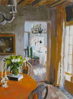 Greet's Sister's Dining Room - Laura Lacambra Shubert American painter b. 1962-