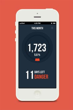 Expenses manager app by DSEEER Kate, via Behance