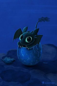 Toothless as a baby Night Fury, just cracked from his egg. awwwwww i want a pet dragon Baby Toothless, Toothless And Stitch, Toothless Dragon, Hiccup And Toothless, Dragon 2, Httyd, How To Train Your, How Train Your Dragon, Baymax