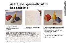Oppilastöiden suunnittelu – Ajatuksia ja ideoita alakoulun kuvataiteeseen liittyen Shape And Form, Art Lessons, Shapes, School, Peda, Color Art Lessons, Art Education