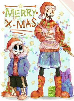 Undertale Christmas- Sans and Papyrus                                                                                                                                                                                 More