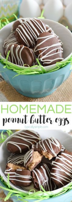 With just four basic ingredients, these homemade peanut butter eggs are super easy to whip up for Easter! And they taste just like the store-bought Reese's ones!
