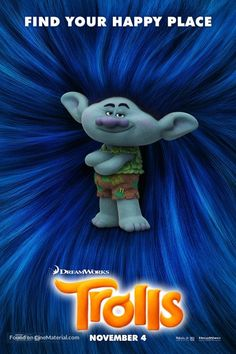 movie poster image for Trolls. The image measures 500 * 750 pixels and was added on 20 November Trolls Birthday Party, Troll Party, Los Trolls, Black Girl Shirts, Great Movies To Watch, Poppy And Branch, Movie Co, Dreamworks Animation, Photo Boards