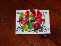 Christmas Poka-dot Duct Tape Hair Bow only $5