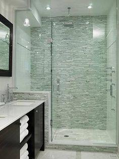 Like open towel storage & glass door