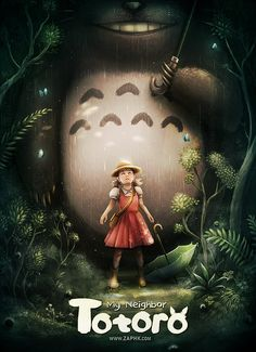 Ghibli - Mon Voisin Totoro (My Neighbor Totoro) Miyazaki - Fan Art by Zaphk
