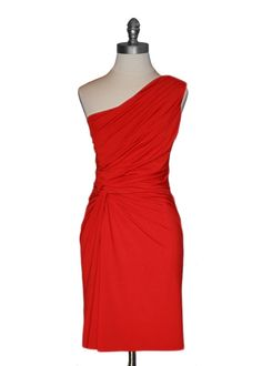 Ark & Co - Ruched Red Dress