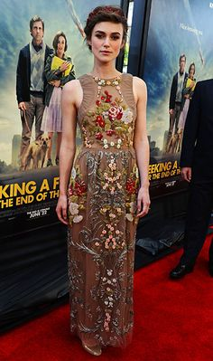 Keira Knightley (in Valentino) at the L.A. Film Festival premiere of Seeking a Friend for the End of the World
