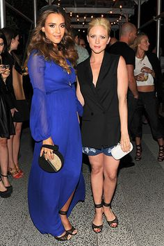 Diane von Furstenberg After Party Jessica Alban and Brittany Snow