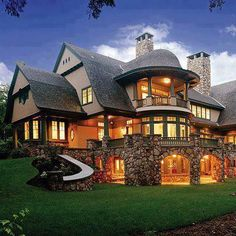 Love this house! Beautifull House with stones overlooking Lake Tahoe.