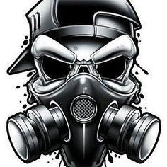 Black and Grey Hardcore Street Ink Street art inspired black and grey temporary . - Black and Grey Hardcore Street Ink Street art inspired black and grey temporary tattoos. These tatt - Skin Color Tattoos, Body Art Tattoos, Tattoo Drawings, Skull Tattoos, Gas Mask Art, Masks Art, Gas Mask Drawing, Skin Drawing, Drawing Drawing