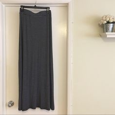 """Brandy Melville Maxine Stripe Skirt Super soft elastic waist maxi skirt from Brandy Melville. One size fits all measures 14 1/4"""" flat waist, 43"""" length. Materials: 60% cotton/40% micromodal. Colors: Dark navy/white. In excellent condition. Brandy Melville Skirts Maxi"""