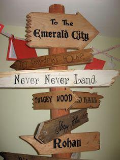 Eowyn's Nursery: Fairytale signpost TOP