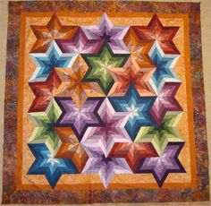 Star Shuffle from a new book called Simply Triangles.