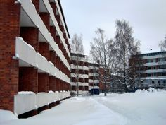 Riihitie 14 by Alvar Aalto, Munkkiniemi, Helsinki Alvar Aalto, Helsinki, Finland, Geo, Stairs, Winter, Outdoor, Winter Time, Outdoors