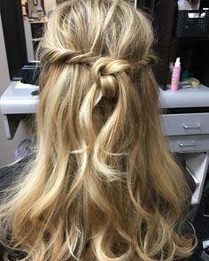 Playing with hair #halfuphalfdownhair #hairknot #updo #hairstyles