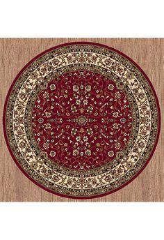 Palace Red Round Rug Circle Rugs