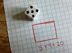 multiplication practice games using dice and graph paper