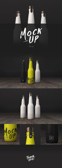 FREE BOTTLE MOCKUP on Behance