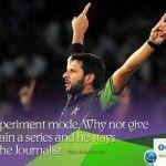 Shahid Khan Afridi vs The Journalist