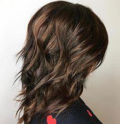 80 Sensational Medium Length Haircuts for Thick Hair Long Choppy Haircuts, Long Shag Haircut, Textured Haircut, Haircut For Thick Hair, Haircuts For Long Hair, Modern Hairstyles, Easy Hairstyles, Longer A Line Haircut, Brown Wavy Hair