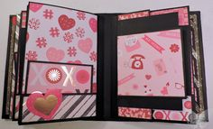 Picture Perfect Portrait Mini Album Volume 1 created by crafter Christine Riley using Recollections, #Awesome Valentine #Super Saint-Valentin paper pad.  Click on the link below to purchase the tutorial: http://shop.paperphenomenon.com/Picture-Perfect-Landscape-Portrait-Mini-Album-Volume-1Tutorial-tut0142.htm  Click on the link below to purchase the tutorial/video combo: http://shop.paperphenomenon.com/Picture-Perfect-Landscape-Portrait-Mini-Album-Volume-1-Combo-TUTVID0142.htm