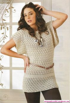 Otra linda túnica!!!! | Mi Rincon de Crochet