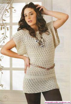 Otra linda túnica!!!!   Mi Rincon de Crochet