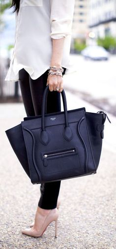 Celine tote paired with sleek, sensational 'chic to the max' everything else.  And thats only whats in the pic.  Just imagine everything else!
