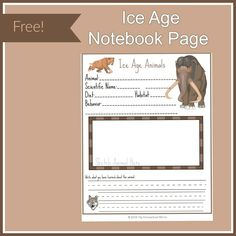 Ice age activities cover science, art, and language arts using the book First Dog! Link to Free Ice Age Notebook Page for science component! Polar Bears For Kids, North American Animals, Write Your Own Story, Literary Elements, New Friendship, Science Facts, Ice Age, Home Schooling, Writing Activities