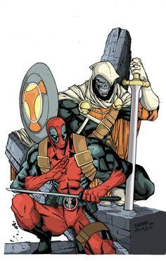 Deadpool And Taskmaster. Lineas: El Master: Carlo Barberi. Color: Luiz zavala.