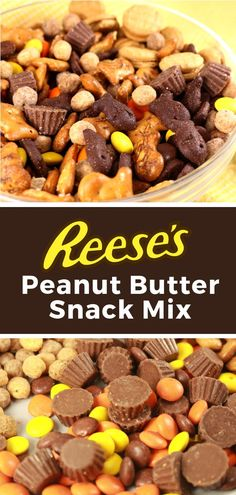 Reese's Snack Mix is so easy to make, and a perfect treat if you love peanut butter. This no-bake snack mix recipe has the perfect mix of sweet and salty ingredients so you get a new flavor combination in every delicious bite. Nutter Butter Cookies, Reeses Peanut Butter, Peanut Butter Recipes, Coconut Recipes, Candy Cookies, Trail Mix Recipes, Snack Mix Recipes, Baking Recipes, Dessert Recipes
