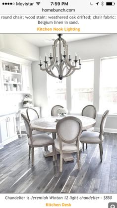 Get inspired by these dining room decor ideas! From dining room furniture ideas, dining room lighting inspirations and the best dining room decor inspirations, you'll find everything here! Farmhouse Dining Room Table, Dining Room Table Decor, Dining Table Design, Dining Room Furniture, Dining Rooms, Dining Room Chandeliers, Round Dinning Room Table, Farmhouse Chairs, Home Decor Ideas