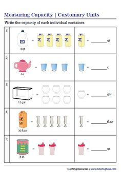 Capacity Worksheets, Measurement Worksheets, School Projects, Maths, Bar Chart, The Unit, Exercises, Bar Graphs