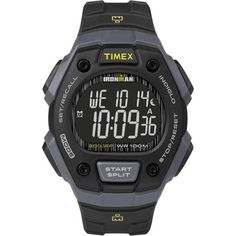 c40568dbd256 Timex Full-Size Ironman Classic 30 Sport Black Gray Mens Free Shipping to  USA