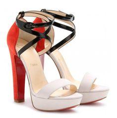Christian Louboutin Summerissima 140 Mixed-Media Platform sandals